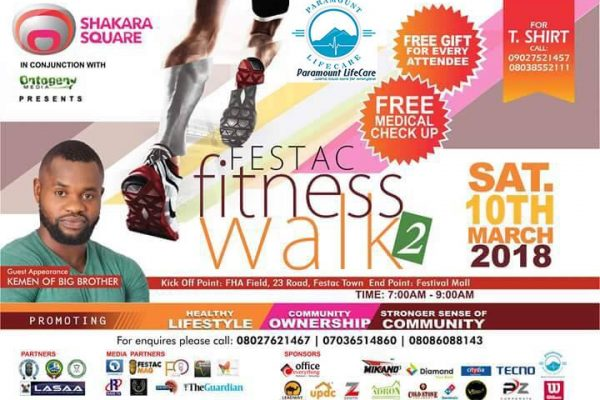 Festac Fitness Walk II – Paramount Lifecare Partners with ShakaraSquare