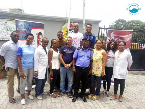 Paramount Lifecare visit to Area E command Police Station, Festac Town.